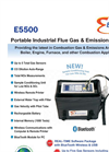 E Instruments - Model E5500 - Portable Industrial Combustion Gas & Emissions Analyzer - Brochure
