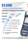 E Instruments - Model E1500 - Hand-Held Portable Industrial Combustion Gas & Emissions Analyzer Brochure