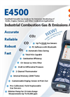 E Instruments - Model E4500 - Hand-Held Industrial Combustion Gas & Emissions Analyzer - Brochure