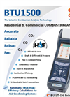 E Instruments - Model BTU1500 - Residential & Commercial Combustion Analyzer - Brochure