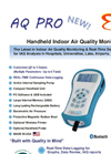 E Instruments - Model AQ Pro - Handheld Indoor Air Quality Monitor - Brochure