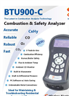 E Instruments - Model BTU900-C - Combustion & Safety Gas Analyzer - Brochure