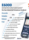 E Instruments - Model E6000 - Hand-Held Industrial Combustion Flue Gas & Emissions Analyzer - Brochure
