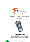 E Instruments - AQ Comfort - Portable Multifunctional Indoor Air Quality Monitor -Instruction & Operations Manual