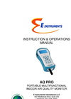 E Instruments - AQ Pro - Portable Multifunctional Indoor Air Quality Monitor - Instruction & Operations Manual