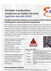 Portable Combustion Analyzers as Safety Devices - Application Note