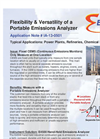 Flexibility & Versatility of a Portable Emissions Analyzer - Application Note