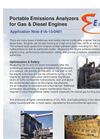 Portable Emissions Analyzers for Gas & Diesel Engines - Application Note