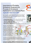 Importance of Portable Emissions Analyzers for Process & Emissions Optimization at a Cement Plant - Application Note