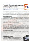 Portable Emissions Analyzers for Mining Applications - Application Note