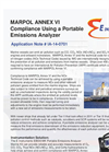 MARPOL ANNEX VI Compliance Using a Portable Emissions Analyzer - Application Note
