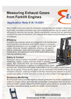 Measuring Exhaust Gases from Forklift Engines - Application Note