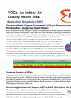 VOCs: An Indoor Air Quality Health Risk - Application Note