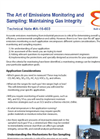 The Art of Emissions Monitoring and Sampling: Maintaining Gas Integrity - Applications Note