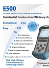 E500 - Residential Combustion Efficiency Analyzer - Brochure