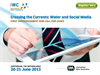 Crossing the Currents: Water and Social Media 2013 - First Announcement and Call for Cases