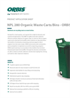 Model NPL 280 - Organic Waste Carts and Bins Brochure