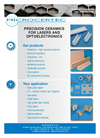 Ceramic Components for Lasers and Optoelectronic Devices Brochure
