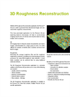 3D Roughness Reconstruction Application Specification Sheet