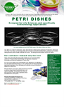 Petri Dishes for Biotechnology Applications Flyer (North America) Brochure