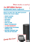 Model MP-MBA Series - Residential Water Softeners Brochure