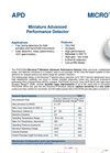 Microtron - Model APD - Miniature Advanced Performance Detector Brochure