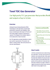 Texol - Model TOC - Gas Generator Brochure