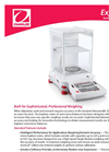 Explorer - Model Semi-Micro - Analytical Balances - Datasheet