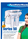 Model 50 GPD - 4 & 5-Stage Undersink Reverse Osmosis Filter Systems Brochure