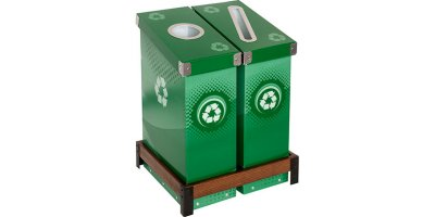 SlimCycle - 2 Bin Recycle & Waste Station
