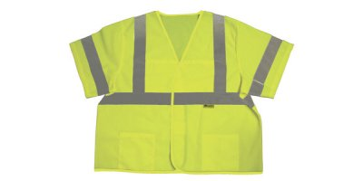 Model Class 3 - Safety Vest With Silver Stripes