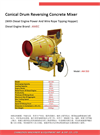 Conical Drum Reversing Concrete Mixer-AM 350