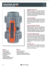 Fortis - Isolation True Union Ball Valves Brochure