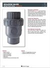 Minuteman - Isolation Spring Check Valves Brochure