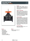 Aquaeduct - Isolation Diaphragm Valves Brochure