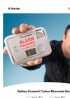 Honeywell - Model X-Series - Battery Powered Carbon Monoxide Alarms - Brochure