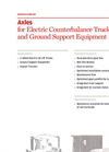 Axles for Electric Counterbalance Trucks and Ground Support Equipment Brochure