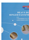 Heavy Duty Hinged Fasteners Brochure