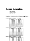 Cobra - Connecting Pins - Brochure