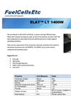 ELAT LT 1400 Gas Diffusion Layer Property Sheet - FuelCellsEtc