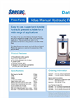 Specac Atlas - 15 and 25 Ton - Manual Hydraulic Press Datasheet