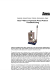 Atlas - Manual Hydraulic Press Problem Troubleshooting - User Manual