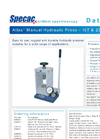 Atlas - Model 15T & 25T - Manual Hydraulic Pellet Press - Datasheet
