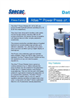 Atlas Power Press - Datasheet