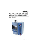 Atlas Power 8T, 15T, 25T Press - User Manual