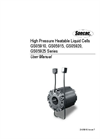 Specac - Model GS05910, GS05915, GS05920, GS05925 Series - High Pressure Heatable Liquid Cells - User Manual