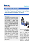 Thin Film Plastic Polymer Preparation (Mini Film-Maker) - Application Note