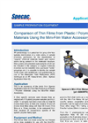 Thin Film Polymer Comparison (Mini Film-Maker) - Application Note