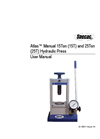 Atlas Manual Hydraulic Press - User Manual