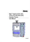 Atlas Autotouch 8T, 15T, 25T Press - User Manual